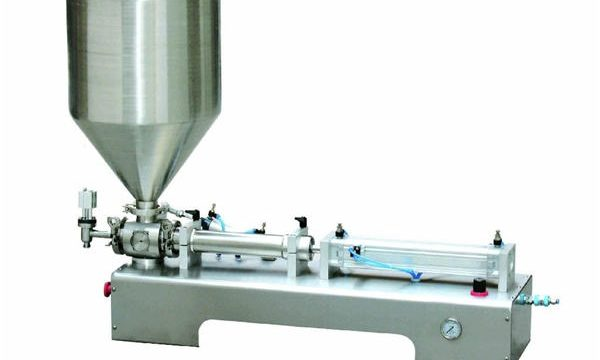 Semi-otomatis Calamine Lotion Paste / Liquid Piston Filling Machine